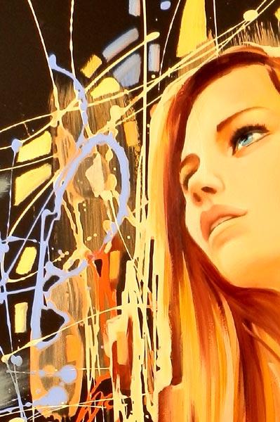 32 Original Female Portrait Universe Abstract Flow Art Painting